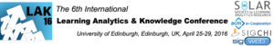 The 6th International Conference on Learning Analytics and Knowledge