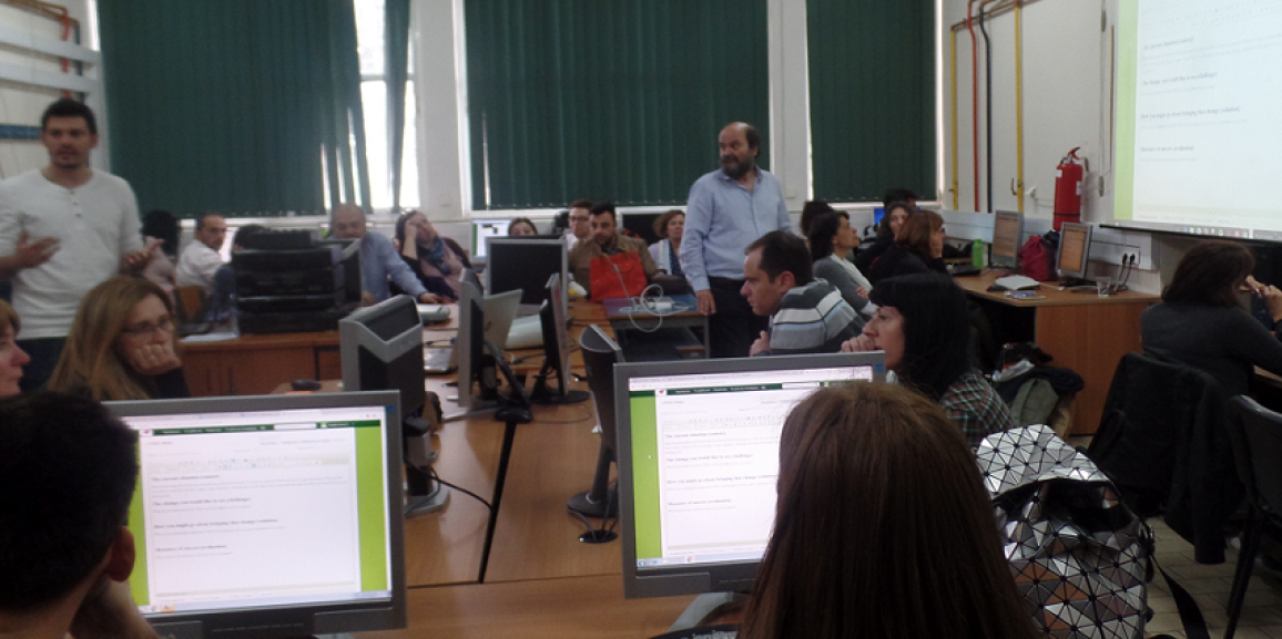 Workshop for teachers in Greek conference